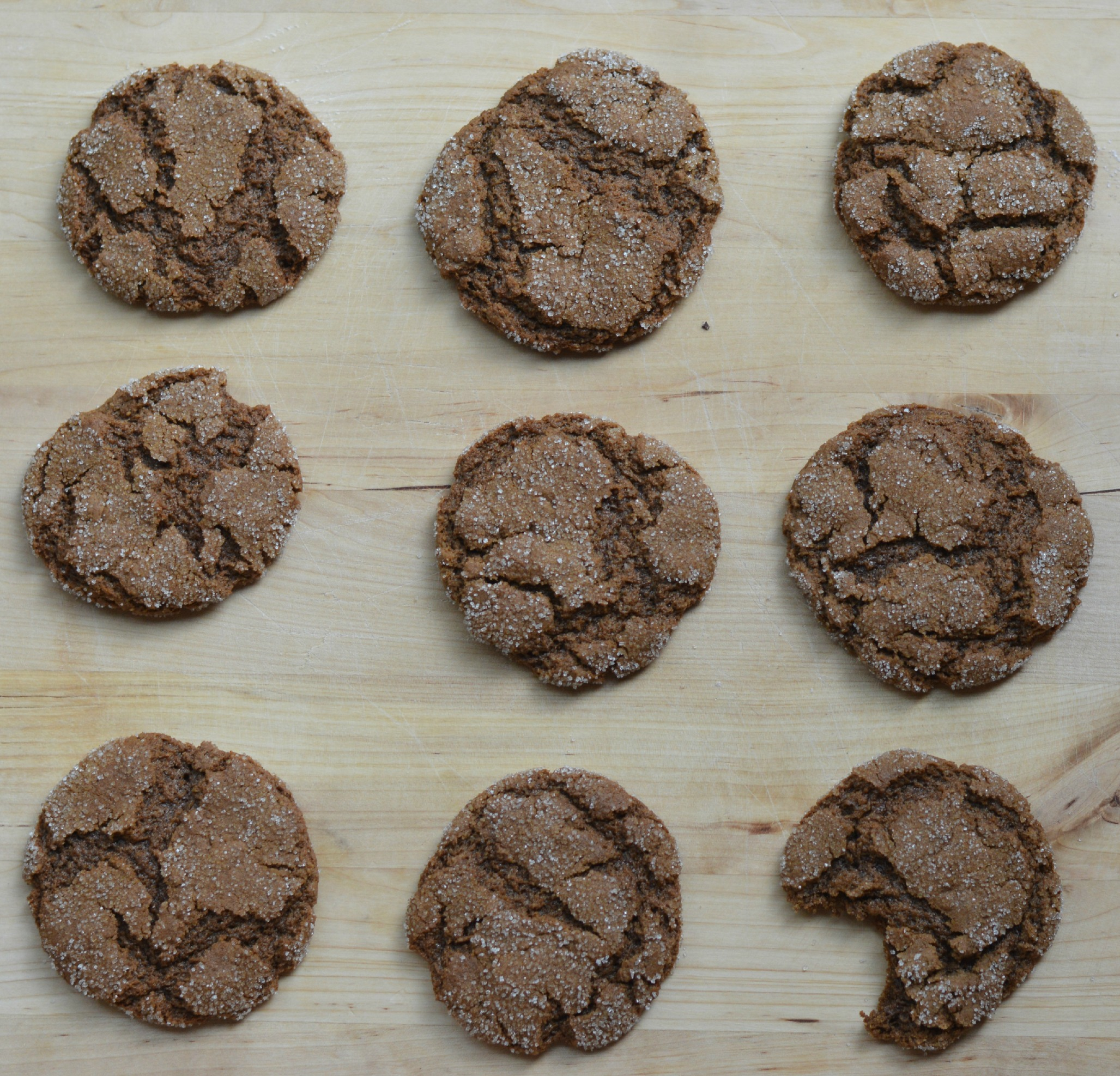 Vegetal Matters - Molasses Crinkle Cookies