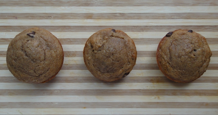 Vegetal Matters - Whole Wheat Chocolate Coffee Banana Muffins