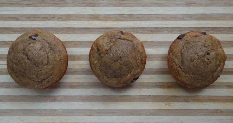 Vegetal Matters - Whole Wheat Chocolate Coffee Banana Muffins