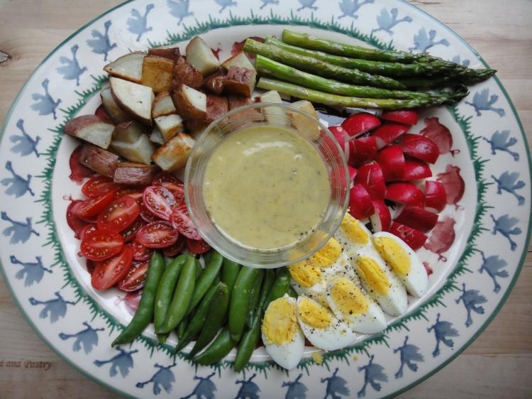 Vegetal Matters - Spring Composed Salad with Lemon Caper Dressing