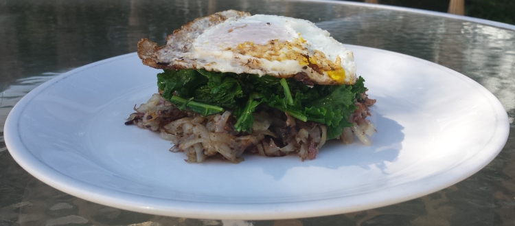 Hash Browns with Kale and Eggs - Vegetal Matters