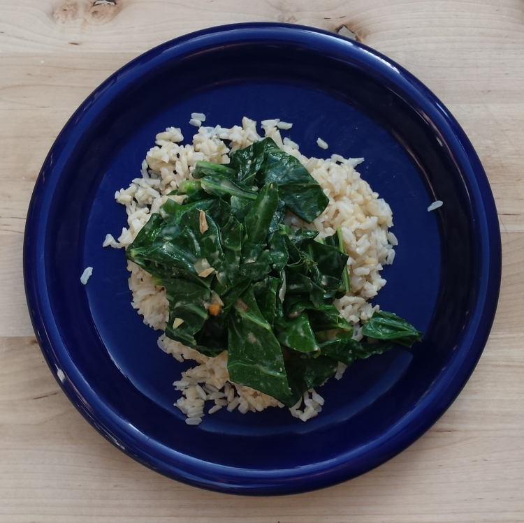 Collards with Peanut Butter - Vegetal Matters