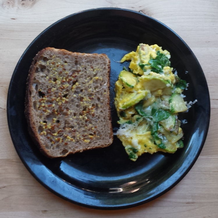 Green Eggs with Mustard Toast - Vegetal Matters