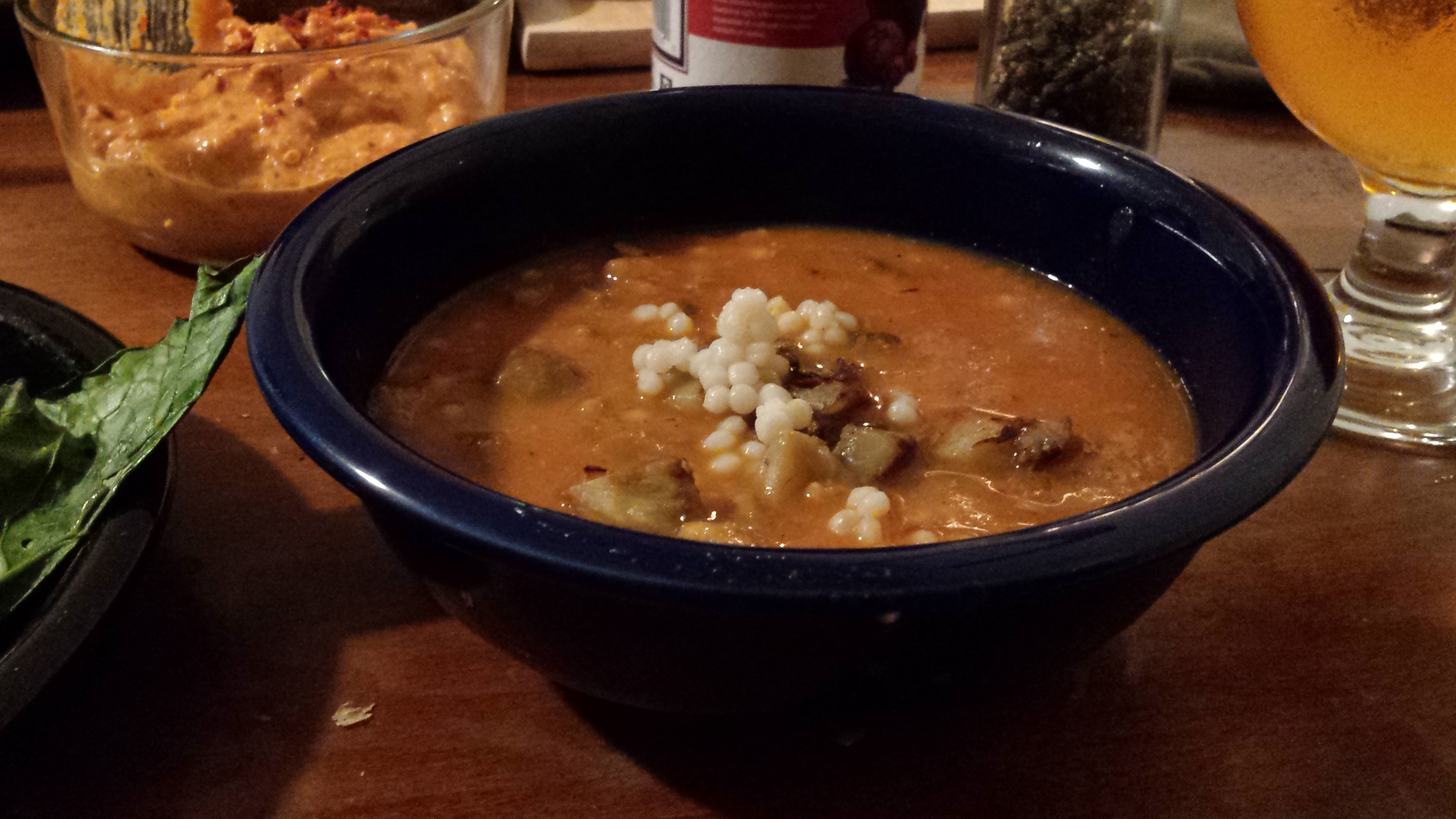 burnt eggplant and israeli couscous soup tomato eggplant soup is