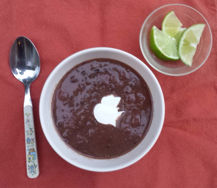 Chipotle Black Bean Soup with Lime Crema - Vegetal Matters